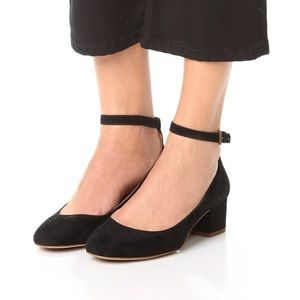 Madewell Black The Inez Ankle Strap Block Heel 6